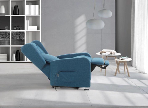 poltrona relax blu