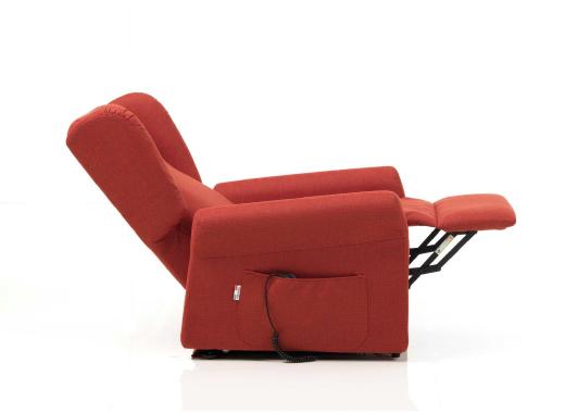 poltrona relax reclinabile rossa