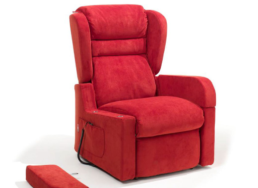 poltrona relax rossa